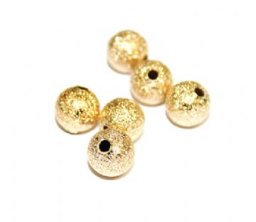 15pcs x 8mm Frosted spacer ball rose gold colour - S.F - WC176 - 4000022.